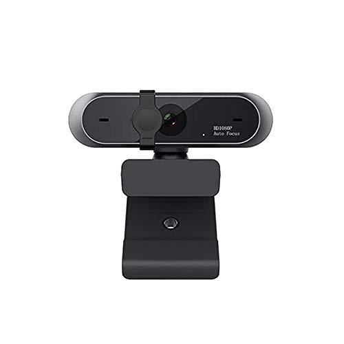 Jia Hu - Cámara USB de 1 pieza 1080P HD 30 fps 2 millones de píxeles integrado con micrófono dual 3D de audio autoenfoque Webcam Webcam