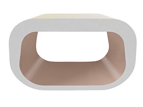 Zespoke Design Le Squoval Carré Ovale TV Meuble en Blanc avec des Couleurs Différentes