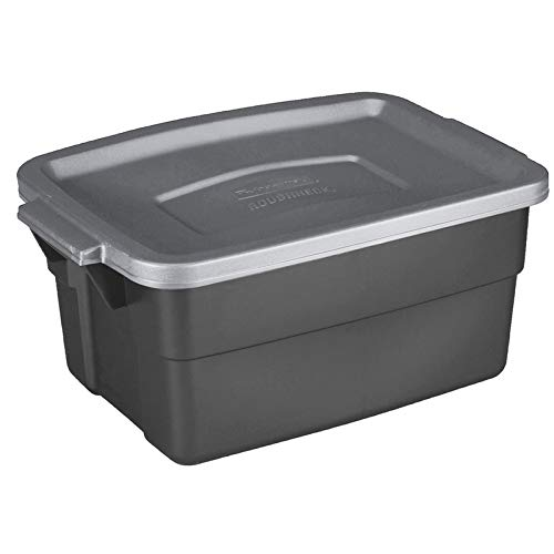 Rubbermaid 6137053 3 gal Roughneck Storage Box44; Gray - Pack of 12