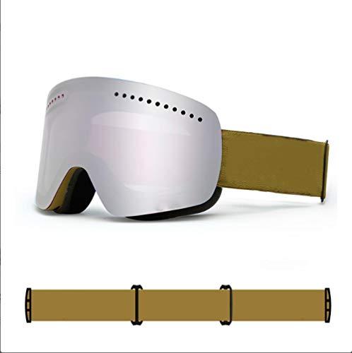 Shunzianson snowboardbril voor mannen en vrouwen, dubbele UV400, anti-condens, grote skibril, goede kwaliteit