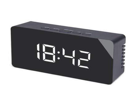 bysonice Reloj despertador eléctrico LED de carga con pantalla grande LED para oficina en casa