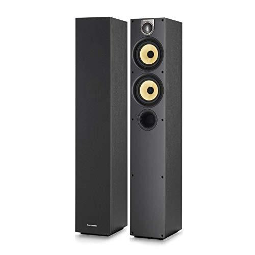 Bowers & Wilkins - 600 Series 684 S2 Dual 5 2-Way Floorstanding Loudspeaker (Each) - Black