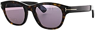 Tom Ford Men's O'keefe TD-FT0530 52Y Square Sunglasses, Havana/purple, 51 mm