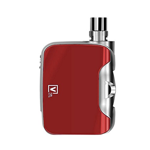 FUSION E-cigarette BOX Mod 'All-in-one' 50W (rouge), LED 7 couleurs modulables. (Sans nicotine ni tabac)