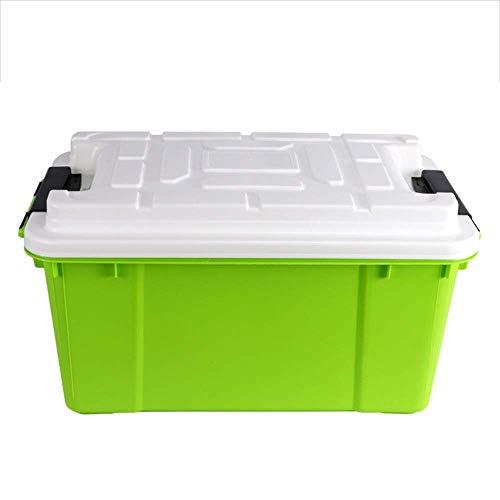 Chain Winter Kofferraum Organizer Kofferraum Kunststoff Organizer wasserdichte Küchentheke Spielzeug Obst Gemüse Organizer 55L (Farbe: Grün, Größe: 60X32X35CM)