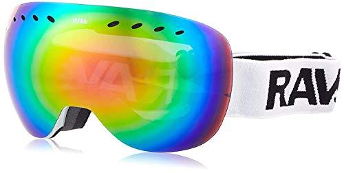 Ravs by Alpland Schutzbrille Skibrille Kontrastverstärkt für Allwetter! Rahmenlos