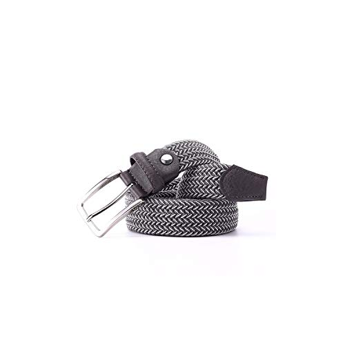 Vio-let Hot 2020 Geflochtene Gürtel, für Herren, gemischte Farben, elastisch, elastisch, geflochten Gr. 105 cm, Whitegrey