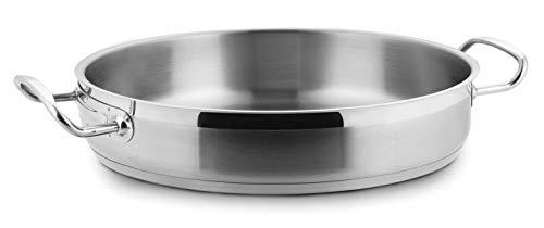 Lacor - 57636 - Paellera Sin Tapa 36x7cm Inox 18%Cr.