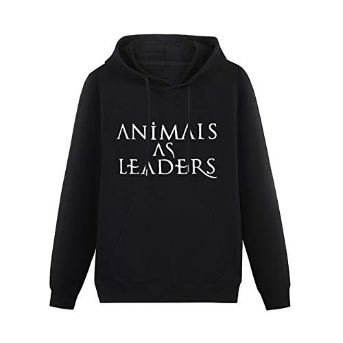 Animal As A Leader Sign Printed Hoodie Long Sleeve Hooded Pullover Sweatshirts for Teenager Black S