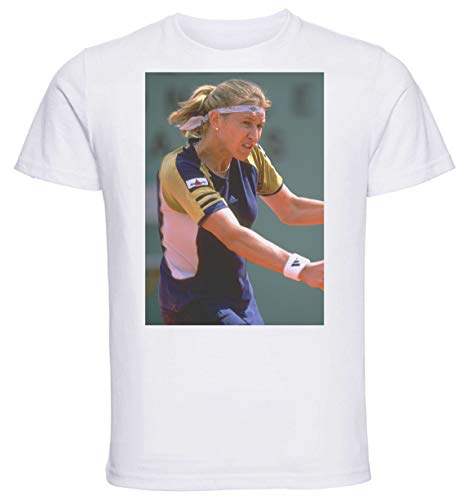 Instabuy T-Shirt Unisex - White Shirt - Tennis - Steffi GRAF Size Extra Large