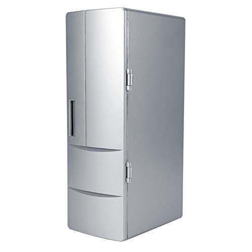 Mini-Kühlschrank-Compact Mini-USB-Kühlschrank mit Gefrierfach Dosen trinken Bierkühler wärmer Reisen Auto Office verwenden