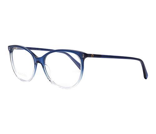 Gucci GG0550O-008-53 Brillengestell, Blau Kristall/Kristall Kristall, 53.0 Unisex Adulto
