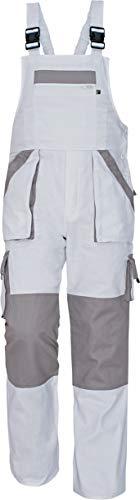 Stenso MAX - Herren Praktisch Arbeitslatzhose Baumwolle Weiß 56