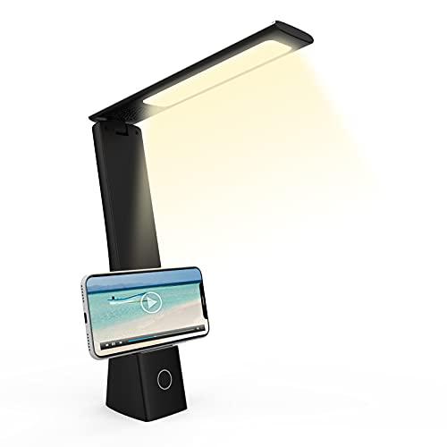 Lampada da Scrivania LED Lampada da Tavolo Protezione Occhi USB Lampada da Tavolo Pieghevole 3 Temperature di Colore 3 Livelli di Luminosità Lampada da Ufficio Touch Contro per Lettura Lavoro