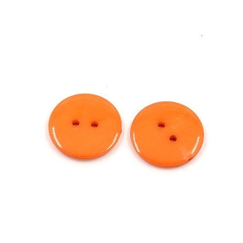 Acrylique Boutons Orange Rond 12mm 2-Trou Paquet De 50+