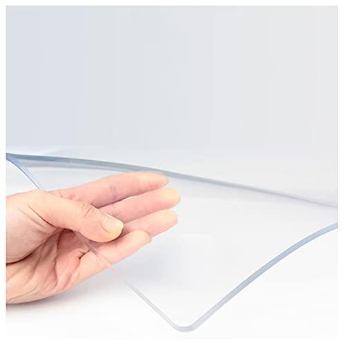 LKDF Mantel Rectangular Transparente a Prueba de Agua, Mantel de plástico de Cristal, fácil de Limpiar y Mantel para el hogar,100x100cm/39.4x39.4in