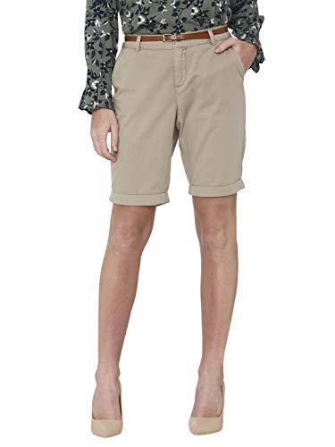 VERO MODA Damen VMFLASH MR Shorts Bermuda, Braun (Silver Mink), 38 (Herstellergröße: M)