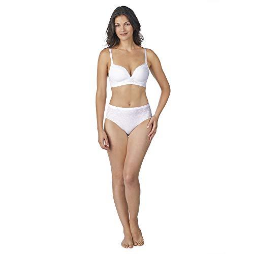 Company Ellen Tracy Seamless Curves Animal Jacquard Wirefree Comfort Bra White