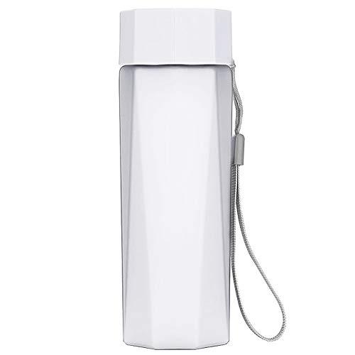 HShyxlkj Outdoor Sport Cup Space Cup, draagbaar met draagbare plastic beker, peeling fitness klimmen waterfles wit