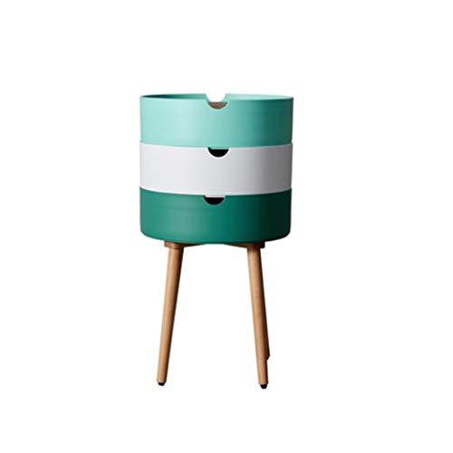 TXXM® Herstellung Nachttisch Schlafzimmer Spind, Schlafzimmer Nachttisch, Wohnzimmer Locker, Wohnzimmer Sofa Seitenschrank Praktische Möbel (Color : Green)