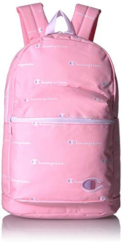 Champion Girls' Big Supercize Backpack, Pink/White, Youth Size