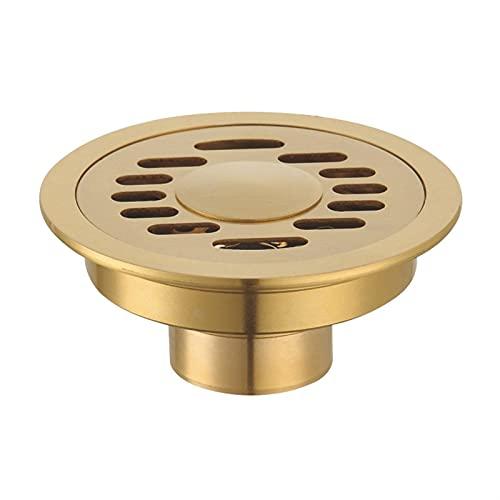 Alysays Useful 1 0CM Tubo de Drenaje de Piso Redondo de latón Ducha de desagüe de residuos de residuos Goldo de Drenaje de Piso Convenient (Color : 2)