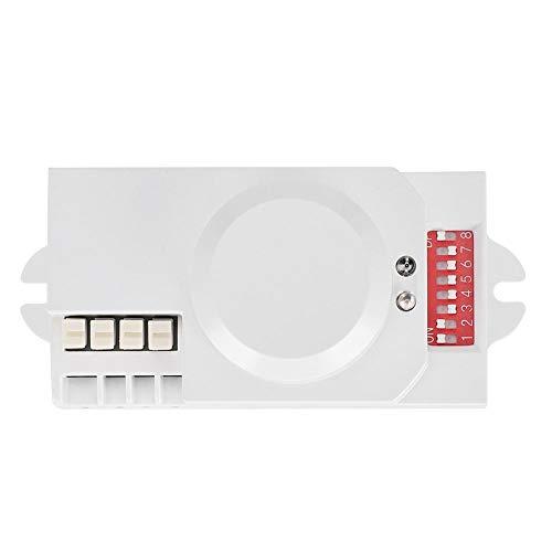 Interrupteur d'¨¦clairage du,D¨¦tecteur de mouvement corporel, interrupteur de capteur micro-ondes en plastique ABS ignifuge, pour une utilisation en int¨¦rieur