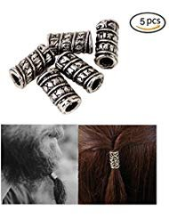 Vikings Hair Bread Beads Accessories-small Viking Bead Viking Runes Beads Snake Beads Beard Hair Beads Bracelets Diy Pendant Necklace Jewelry Making Hair Accessories 5 Mm Inner Diameter (Small)