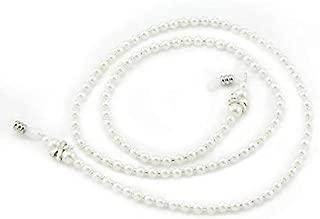 OCR White Pearl Beaded Eyeglass Chain , Eyewear Sunglasses Cord Neck Strap Holder