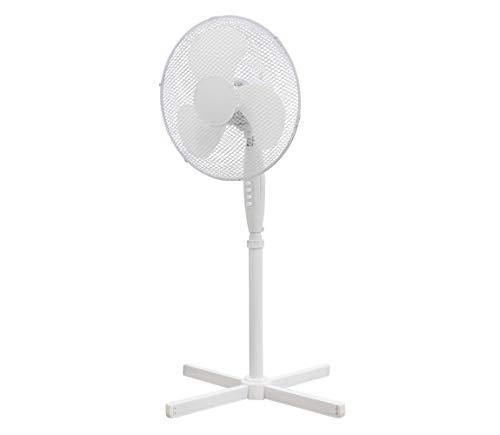 Ventilador de pie de 40 cm, 3 velocidades, blanco 50 W