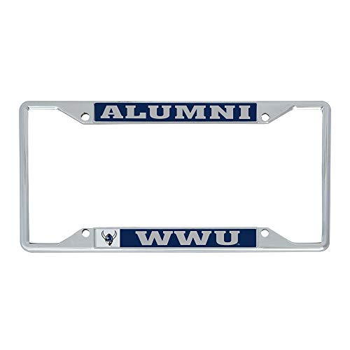 Western Washington University WWU Vikings NCAA Metal License Plate Frame for Front or Back of Car Officially Licensed (Alumni)