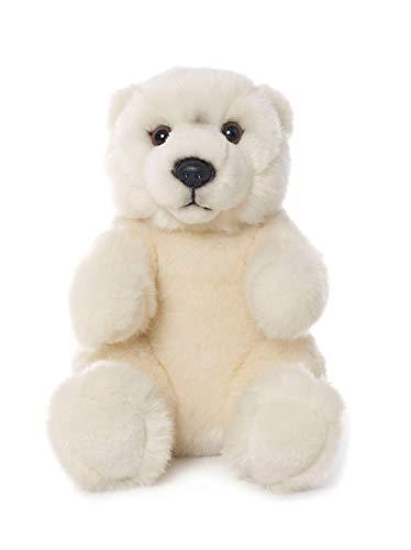 WWF WWF00545 Plüsch Eisbär sitzend, realistisch gestaltetes Plüschtier, ca. 15 cm groß und wunderbar weich
