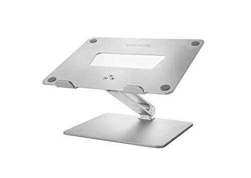 Rosey Home Adjustable Laptop Stand - Solid aluminium metal construction, sturdy design. For laptops, iPads or tablets - MacBook Pro/Air 13' 15' 16'