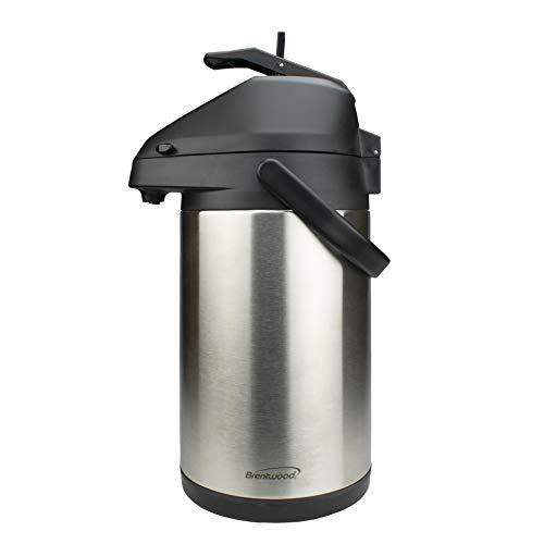 Brentwood 35-Liter Airpot Hot Cold Drink Dispenser Stainless Steel Black