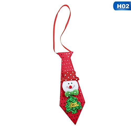 CNBB Lichter Weihnachten Krawatte Glow Pailletten Weihnachtsmann Bär Schneemann Elch Krawatte Für Kinder Cartoon Krawatte Dekoration Neujahr Geschenk