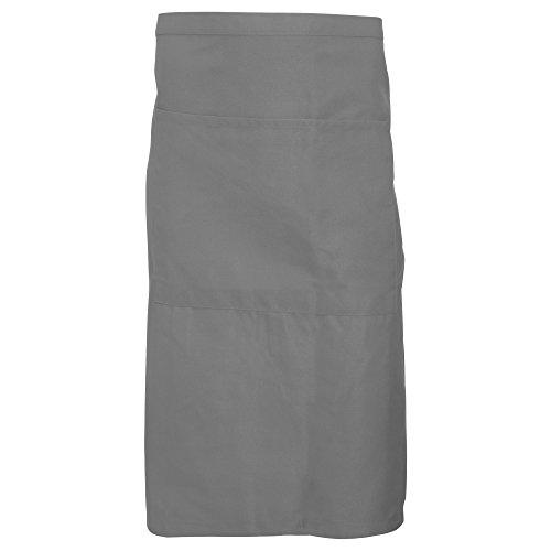 Dennys - Delantal Unisex la cintura con bolsillo (Talla Única/Gris Grifo)