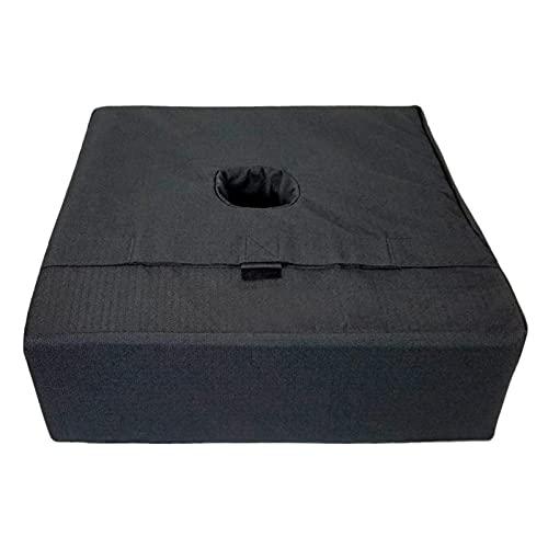 FLJYHJ Bolsa de arena de carga de 45,72 cm con base de paraguas cuadrado, bolsa de arena contrapeso impermeable protección UV, bolsa de arena de carga para soportar, bolsa de arena contrapeso (negro)