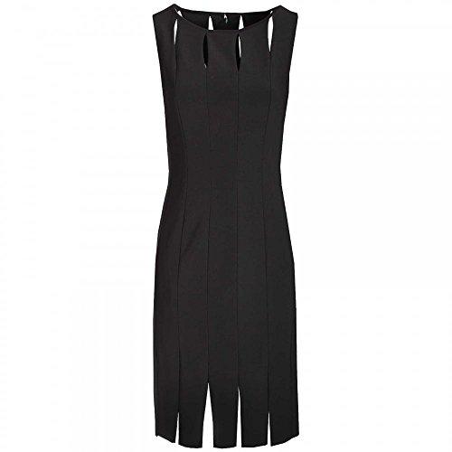 Frank Lyman Keyhole & Slit Sleeveless Shift Dress 8 Black