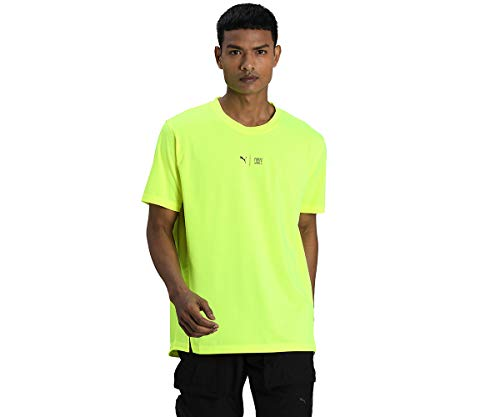 PUMA Train First Mile SS tee Camiseta, Hombre, Yellow Alert, L