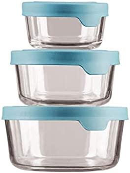 3-Pack Anchor Hocking TrueSeal Round Glass Food Storage Containers