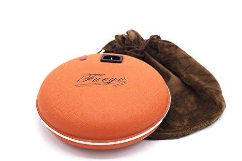 PRENDELUZ Calienta Camas eléctrico con piloto + Funda de Lana Color marrón.