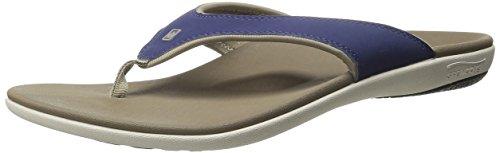 Mult Spenco Women/'s Kholo Polysorb Total Support Sandals-Tribal Tan//Aqua Sizes
