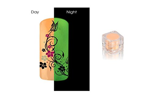 Poudre Phosphorescent Gel uv ongles - Brille la nuit - Pastel Orange REF8580