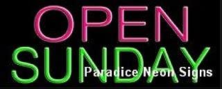 Open Sunday Neon Sign 13 x 32