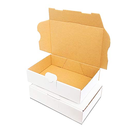 Verpacking 50 Maxibriefkartons 180x130x45mm DIN A6 Weiss MB-2 Maxibrief für Warensendung DHL DPD GLS H, Päckchen, Versandkarton, kleine Schachtel