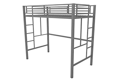 Your Zone.. Metal loft Twin Bed: Multiple Colors (Twin, Silver)