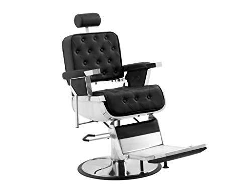Polironeshop Eldorado - Sillón profesional para barbería, peluquería, tatuaje, color negro