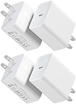 4-Pack 20W PD 3.0 USB-C Fast Wall Charger Power Adapter Block