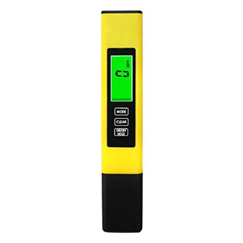 PH Messgerät, PH TDS EC und Temperatur 4 in 1 Set, Wasserqualität Tester für Trinkwasser/Schwimmbad/Aquarium/Pools, Leitwertmessgerät mit hoher Genauigkeit und LCD Display (Gelb)