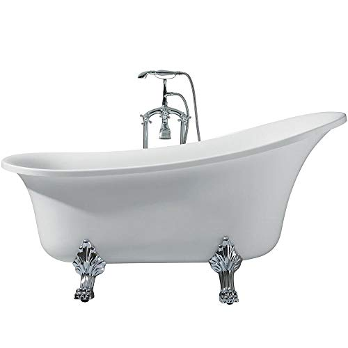DKB Laguna UB006-6327 Freestanding Acrylic Soaking Bathtub 63